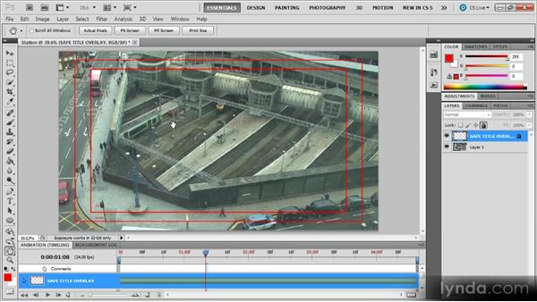 Safe zone guides: Photoshop CS5 for Video Editors