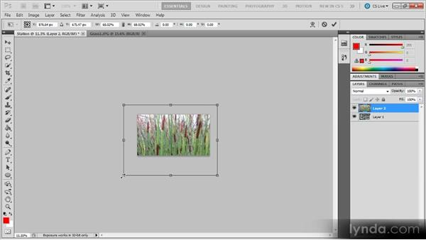 Matching frame sizes: Photoshop CS5 for Video Editors