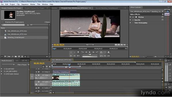 Using images with masks in Premiere Pro: Photoshop CS5 for Video Editors