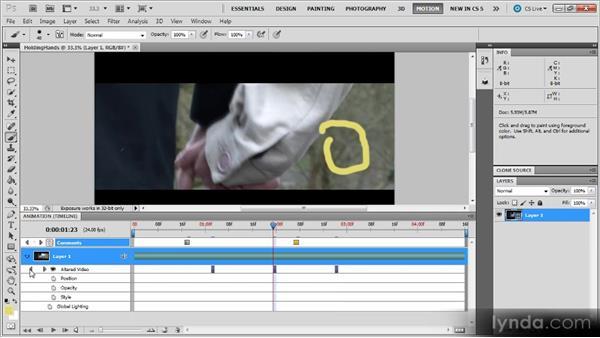 The Animation panel: Photoshop CS5 for Video Editors