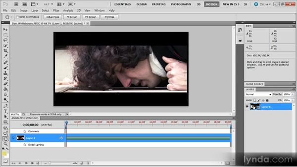 Applying effects to video in Photoshop: Photoshop CS5 for Video Editors