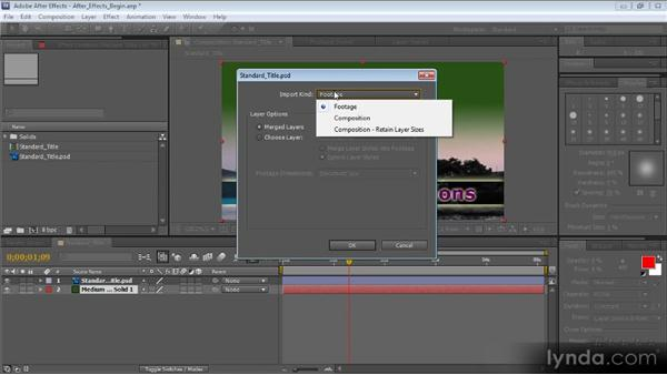 Working with Photoshop documents in After Effects: Photoshop CS5 for Video Editors
