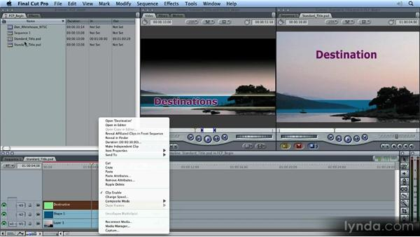 Working with Photoshop documents in Final Cut Pro: Photoshop CS5 for Video Editors