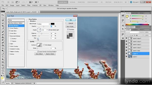 Layer styles: Photoshop CS5 for Video Editors