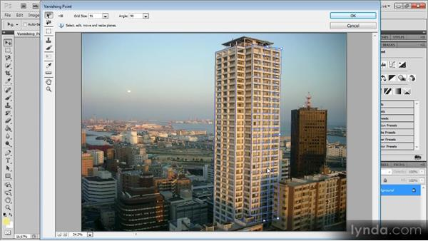 Creating a vanishing point file: Photoshop CS5 for Video Editors