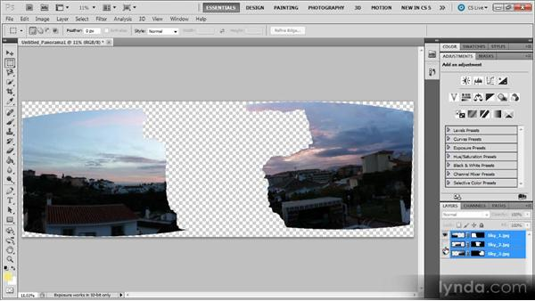 Merging images: Photoshop CS5 for Video Editors