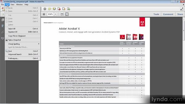Getting to know the Acrobat X interface: Up and Running with Acrobat X