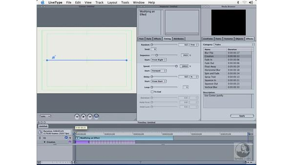 adjusting effects: Learning LiveType