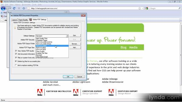 Creating a PDF from other applications: Up and Running with Acrobat X
