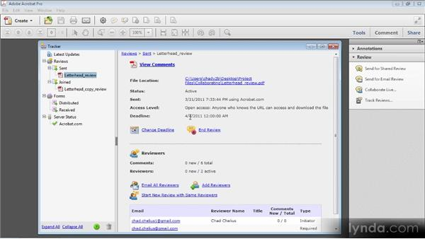 Using the Review Tracker: Up and Running with Acrobat X