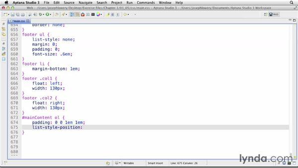 Managing hanging indents: CSS: Formatting Visual Data