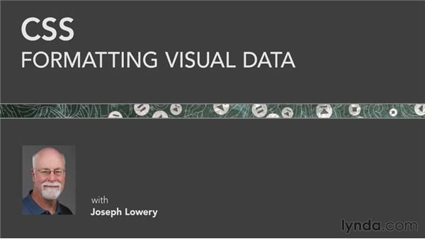 Next steps: CSS: Formatting Visual Data