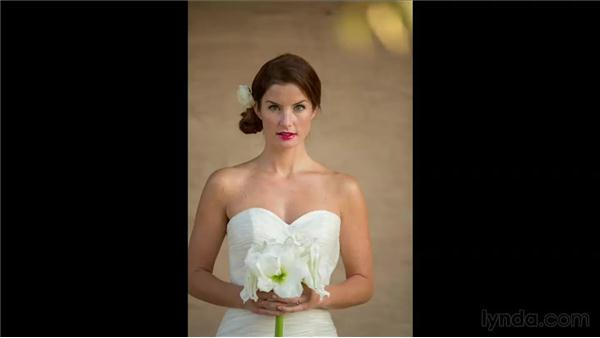Using the bouquet in the shoot: Wedding Photography for Everyone: Bridal Portraits