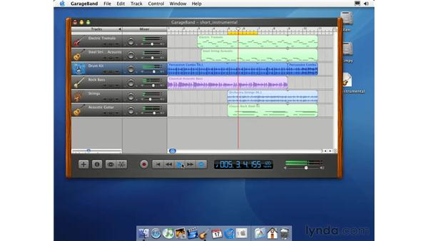 the timeline: Learning GarageBand