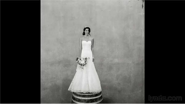 Reviewing the film images: Wedding Photography for Everyone: Bridal Portraits