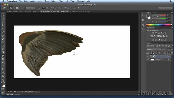 Creating the wing: Bert Monroy: Dreamscapes Volume 2