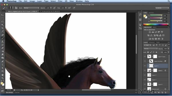 Adding highlights to the horse: Bert Monroy: Dreamscapes Volume 2