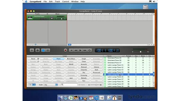 real and software loops: Learning GarageBand