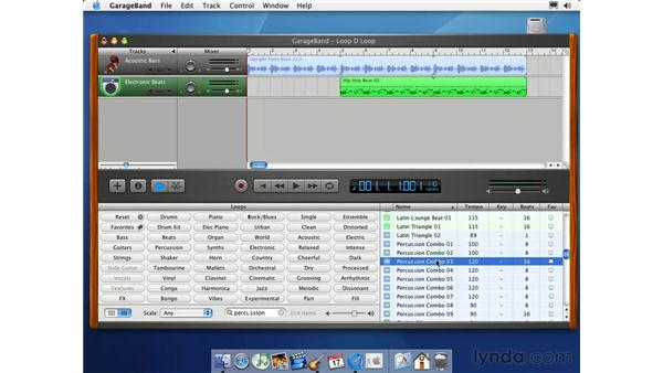 add loops to the timeline: Learning GarageBand