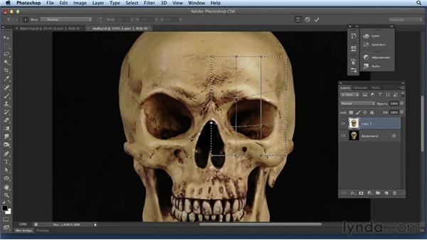 Compositing a skull: Bert Monroy: Dreamscapes Volume 2
