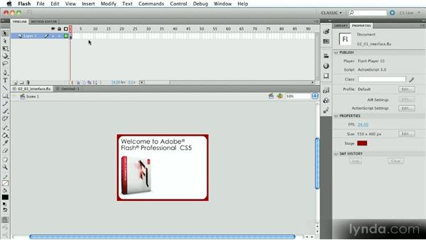 Overview of the interface: Introduction to Flash Animation