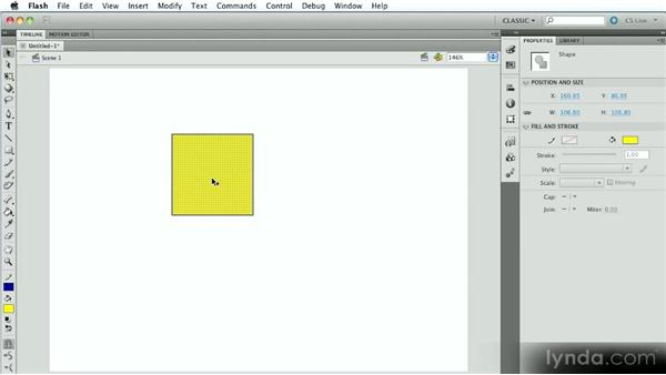 Merge Drawing mode vs. Object Drawing mode: Introduction to Flash Animation