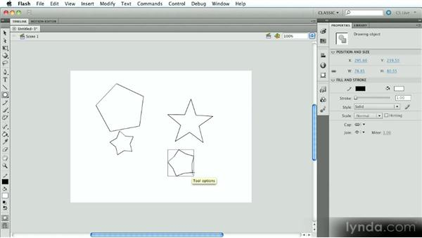 Other shape tools: Introduction to Flash Animation