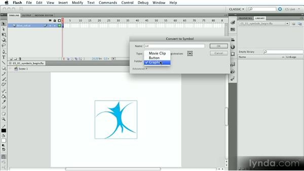 Creating and working with symbols: Introduction to Flash Animation