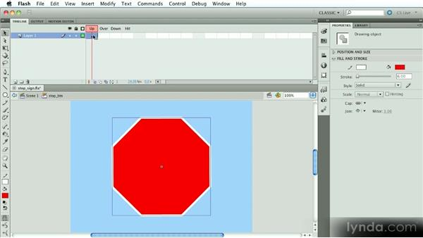 Building a button from scratch: Introduction to Flash Animation