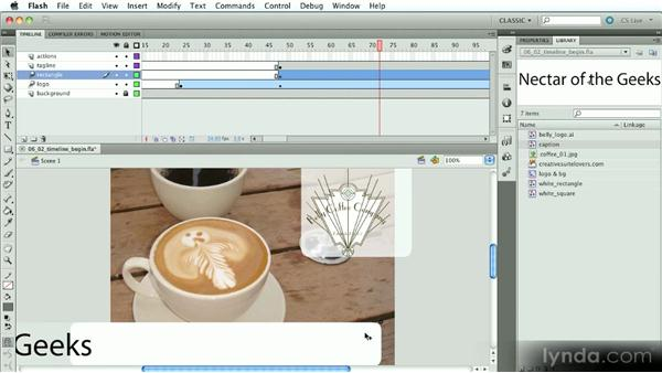The Timeline: Part two: Introduction to Flash Animation