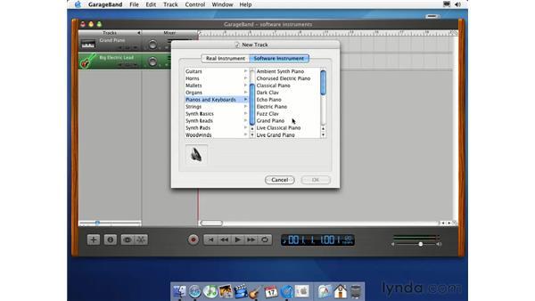 create a MIDI track: Learning GarageBand