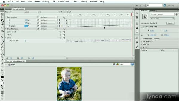 Introduction to the Motion Editor: Introduction to Flash Animation