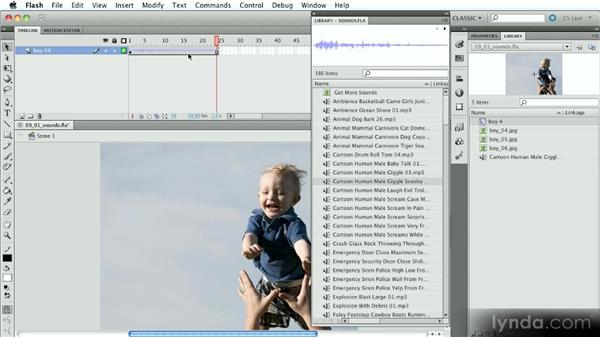 Using sound in Flash movies: Introduction to Flash Animation