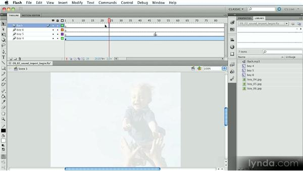 Importing sound into Flash movies: Introduction to Flash Animation