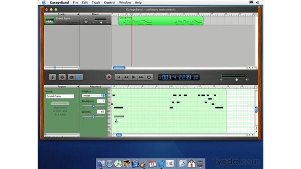 MIDI track editing: Learning GarageBand