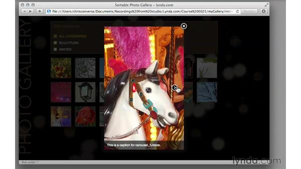 Previewing the final project: Creating a Responsive Sortable Photo Gallery with jQuery