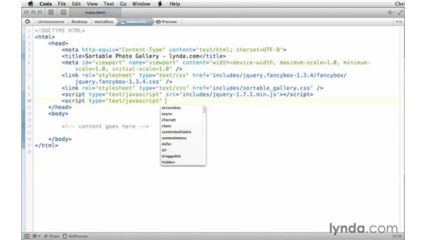 Linking the JavaScript files: Creating a Responsive Sortable Photo Gallery with jQuery