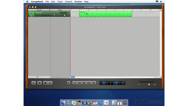 creating a click track: Learning GarageBand