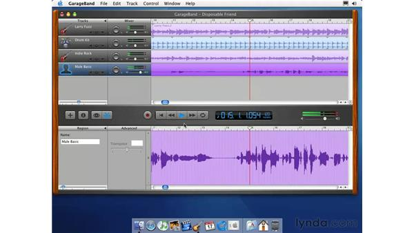 record a vocal track: Learning GarageBand