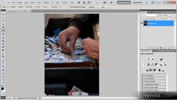 The Ruler tool: Photoshop Image Cleanup Workshop