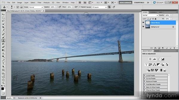 The Clone Stamp tool: Photoshop Image Cleanup Workshop