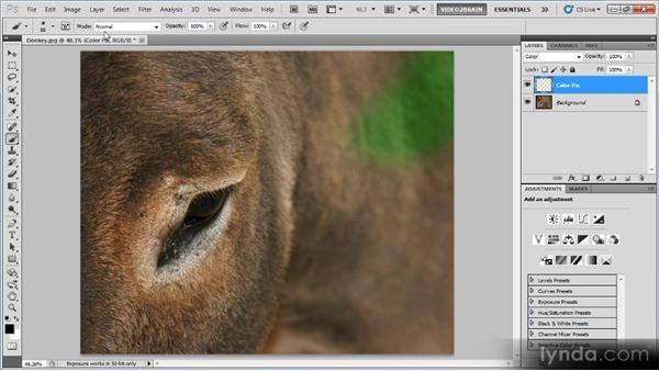 Correcting color contamination: Photoshop Image Cleanup Workshop