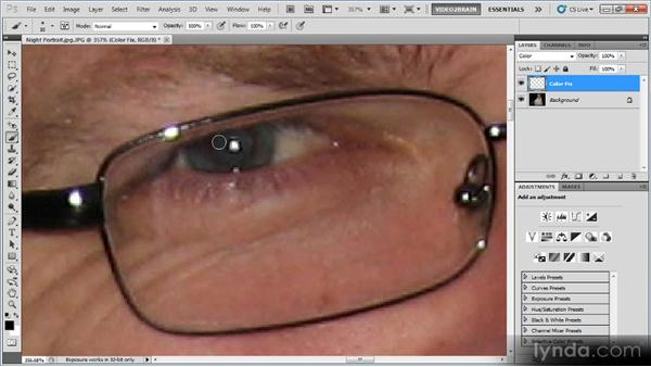 Removing red-eye: Photoshop Image Cleanup Workshop