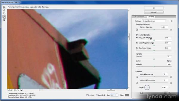 Chromatic aberration: Photoshop Image Cleanup Workshop