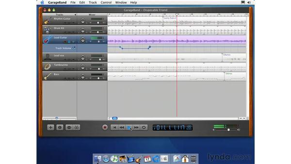 editing and mixing: Learning GarageBand