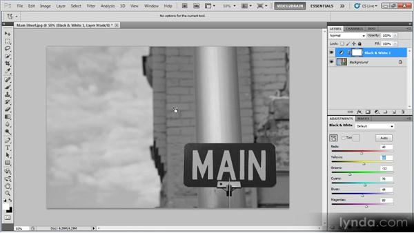 Creating a black-and-white effect: Photoshop Creative Effects Workshop