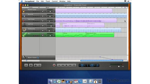 exporting to iTunes: Learning GarageBand