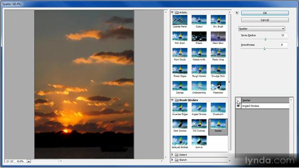 Using the Filter Gallery: Photoshop Creative Effects Workshop