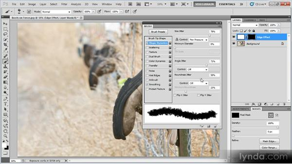 Adding a painted edge effect with the Brush tool: Photoshop Creative Effects Workshop