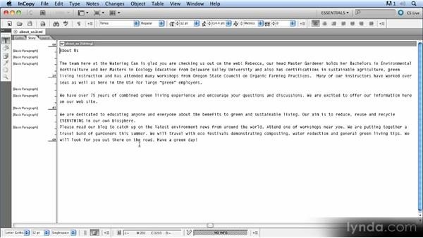 Preferences and defaults: Up and Running with InCopy CS5